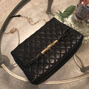 Zara black quilted shoulder bag
